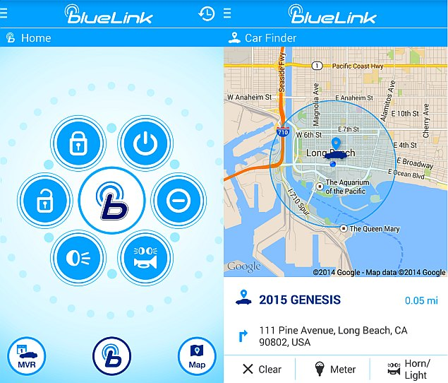Hyundai Blue Link Car-Monitoring App for Android Wear ...