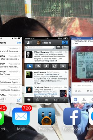 iOS 7 multi-tasking view