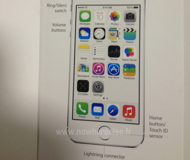 Leaked IPhone 5S User Guide Reveals 'Touch ID' Name For
