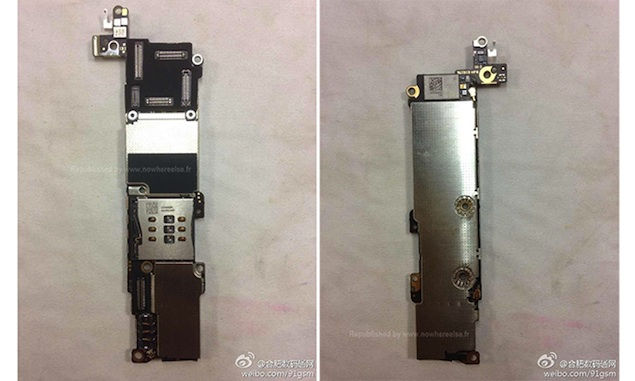 iPhone 5S Home button with silver ring, iPhone 5C logic board appear online in purported pictures
