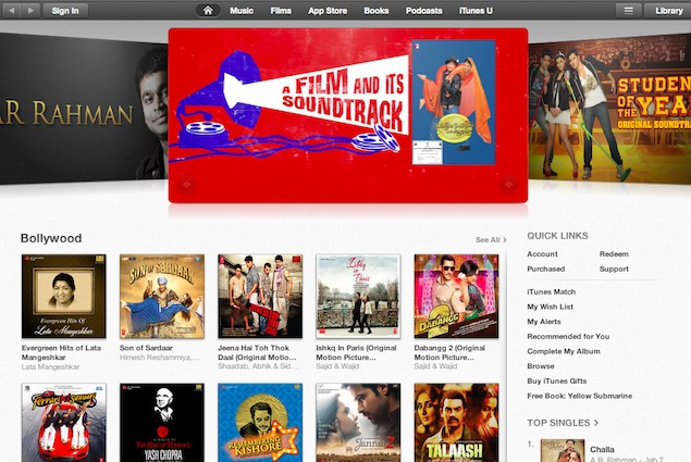 Apple brings iTunes Store to India; purchase music, buy or rent movies