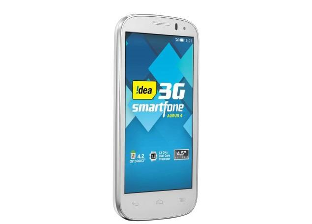 Idea Aurus IV with 4.5-inch display, Android 4.2 launched at Rs. 8,999