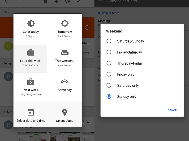Inbox by Gmail Gets New Snooze Alerts