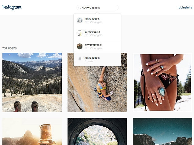 Instagram Web Interface Gets a New Search Bar | Technology News