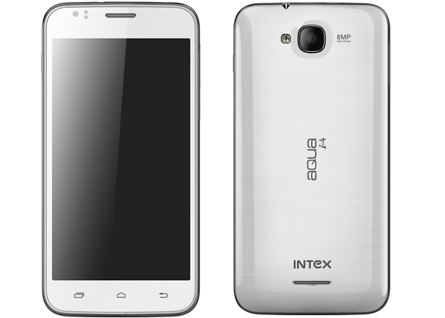 Intex Aqua i-4 and Cloud Y5 listed on company's website