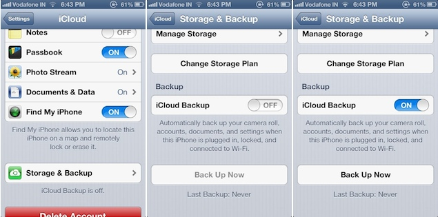 how to turn off automatic icloud backup on mac