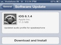 Apple releases iOS 6.1.4 update for iPhone 5