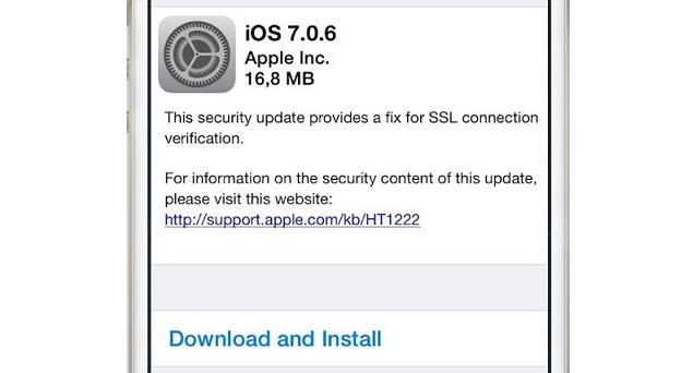 Apple releases iOS 7.0.6 and 6.1.6 update to fix major SSL ...