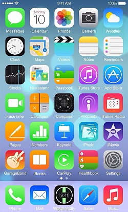 Purported iOS 8 screenshot shows off new layout, apps; hints at iWatch
