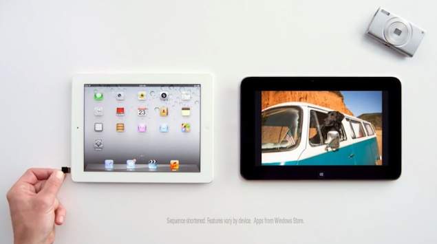 Microsoft mocks Apple's iPad in yet another television commercial