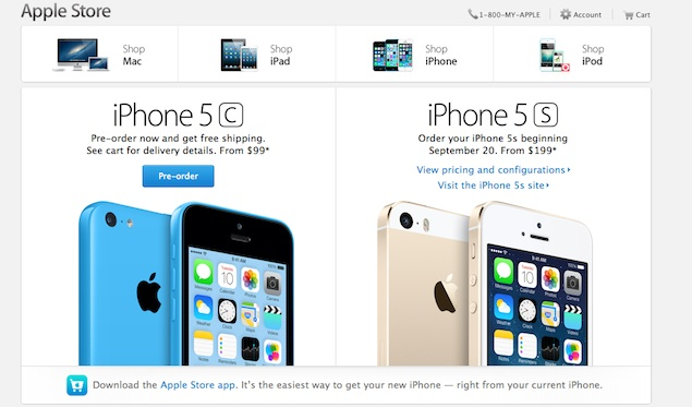 iPhone 5c up for pre-orders in nine countries including US, UK and China