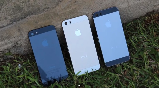 iphone 5s gold leak. iphone 5s gold and graphite back shells leak in new videos | technology news iphone 5s