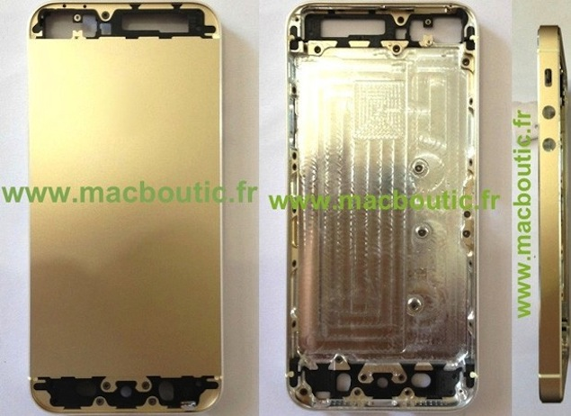 iPhone 5S purportedly pictured in Gold colour, 128GB storage variant predicted