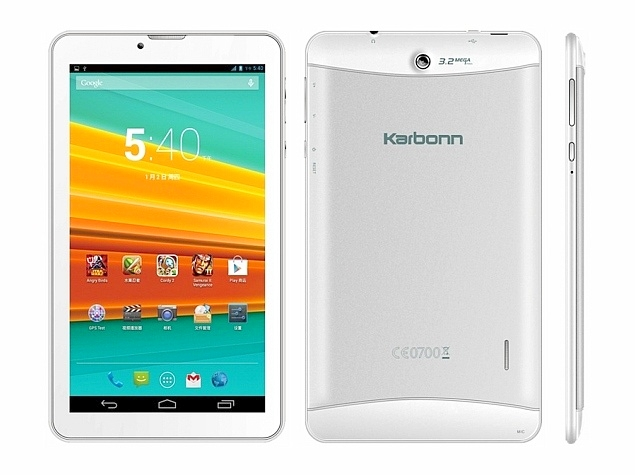 Karbonn ST72 Voice-Calling Android Tablet Launched at Rs. 6,248