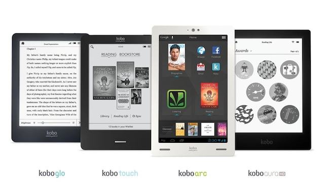 Kobo launches Touch, Glo and Aura HD e-readers, Arc Android tablet in India