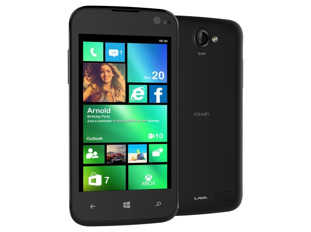 Lava Iris Win1 With Windows Phone 8.1 Launched at Rs. 4,999