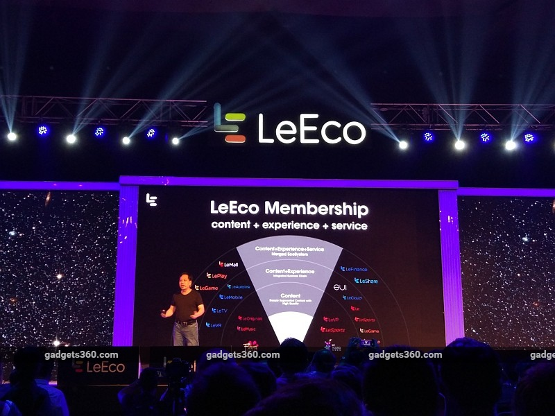 LeEco Unveils Its 'Supertainment' Services in India