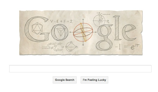Google doodles Leonhard Euler's 306th birthday