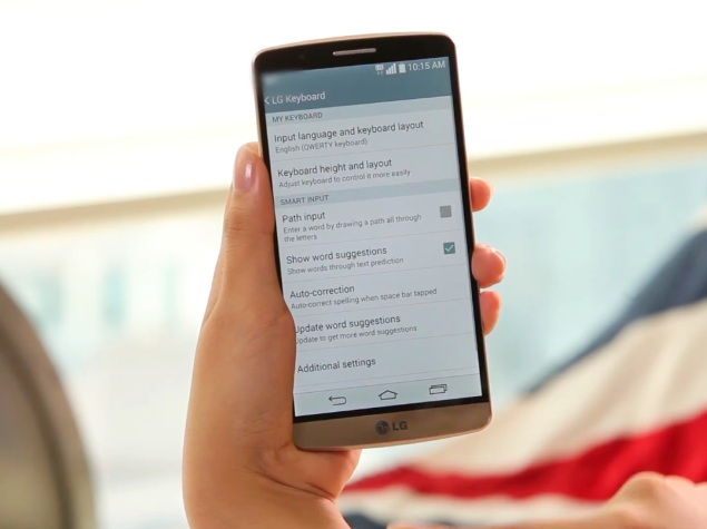 LG Updates G3's Smart Keyboard With Bilingual Word Suggestions and More