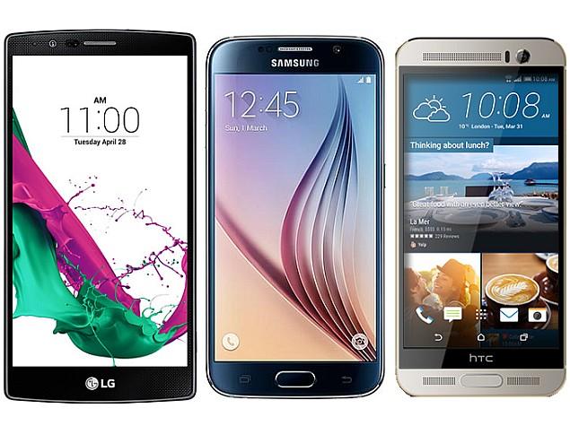 LG G4 vs Samsung Galaxy S6 vs HTC One M9+