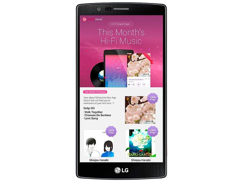 LG Launches Hi-Fi Music Service for Premium Smartphone Users