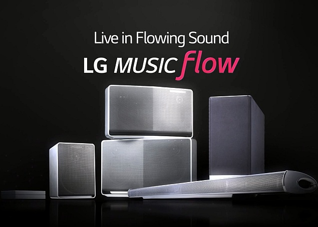 lg music flow 39 smart hi fi audio eco system 39 unveiled ahead of ifa 2014 technology news. Black Bedroom Furniture Sets. Home Design Ideas