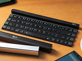 LG Unveils Foldable, Wireless 'Rolly Keyboard'