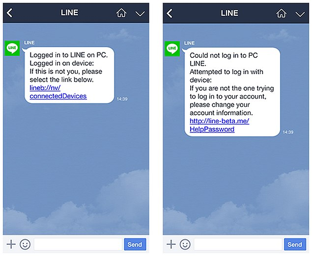 Line Adds Security Notifications For Desktop and Web Store Logins