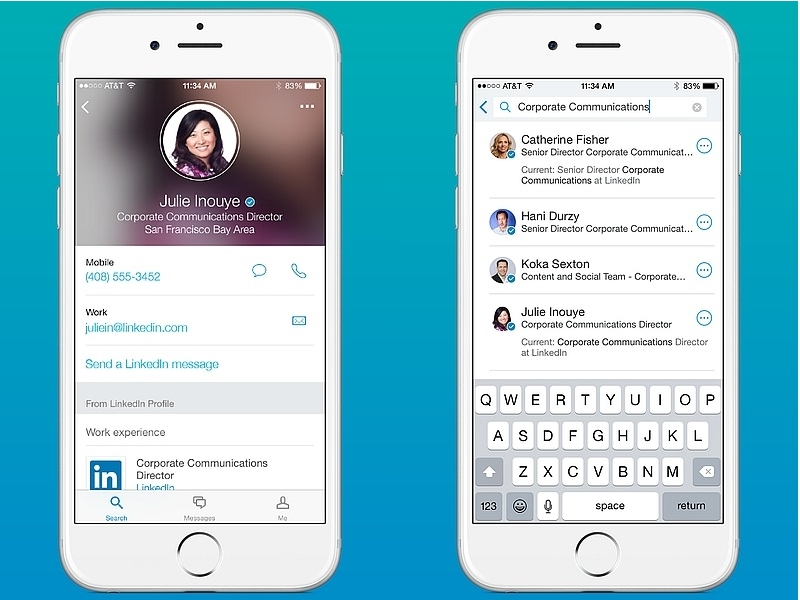 how to search for employees on linkedin