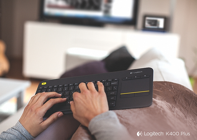 Logitech India Launches Wireless Touch Keyboard K400 Plus for TVs