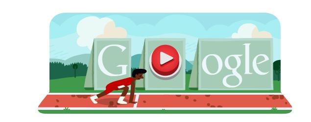 London 2012 hurdles: Olympics day 12 Google doodle game