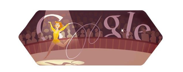 London 2012 rhythmic gymnastics: The 3rd Google doodle of its kind