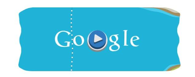 London 2012 slalom canoe: Olympics day 14 Google doodle game