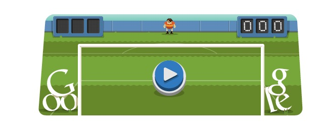 London 2012 soccer: Olympics day 15 Google doodle game