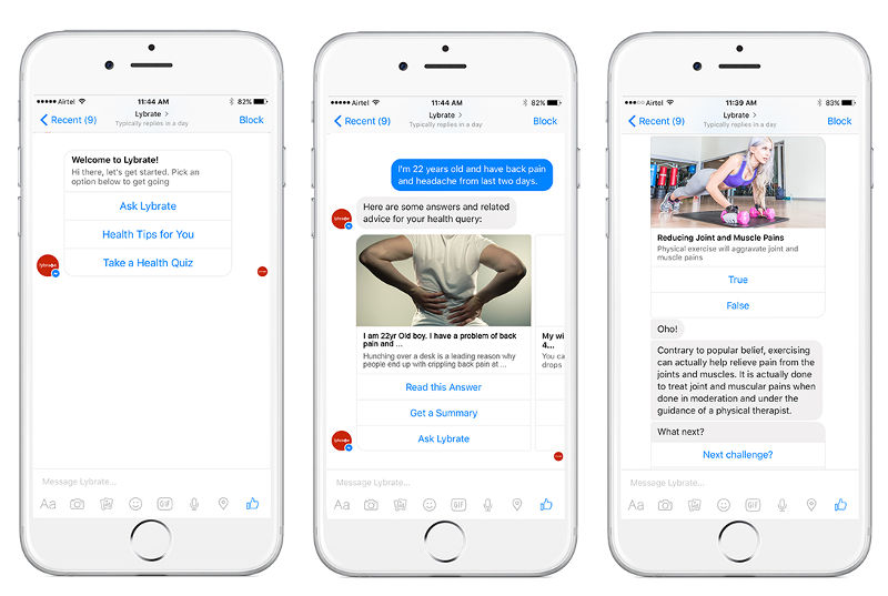 Lybrate's New Facebook Messenger Chatbot Will Answer Your Health Queries