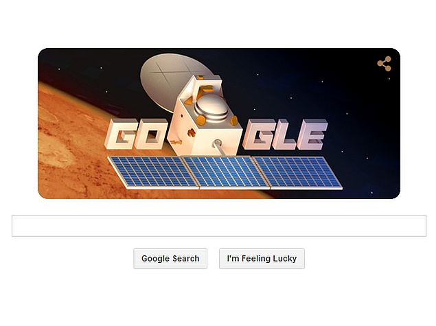 Mangalyaan Makes a Surprise Appearance in Friday's Google Doodle
