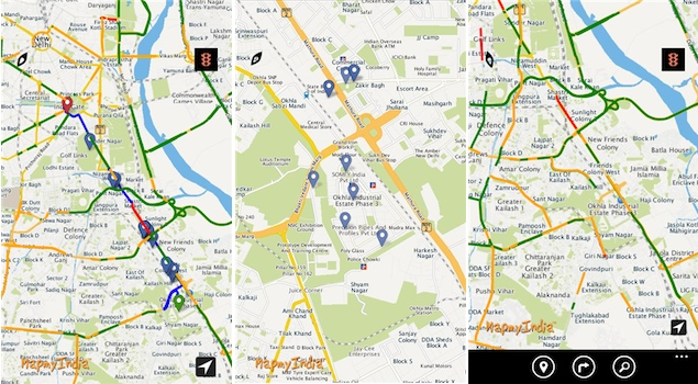 MapmyIndia adds realtime traffic information to Windows 8, Windows Phone and Android apps