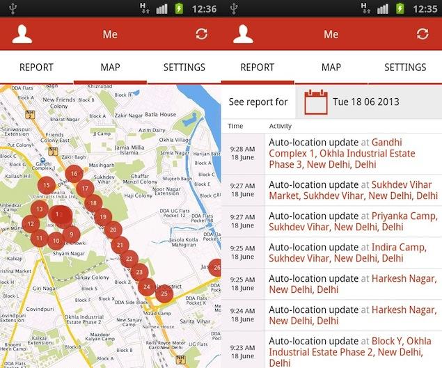Internet tracking app