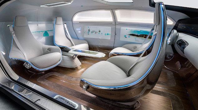 Mercedes F 015 Luxury in Motion concept car at CES 2015
