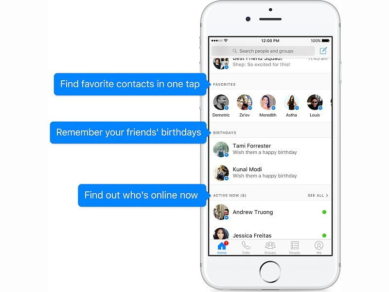 Facebook Messenger Gets a Redesign; Adds Home, Birthday Reminders, and More