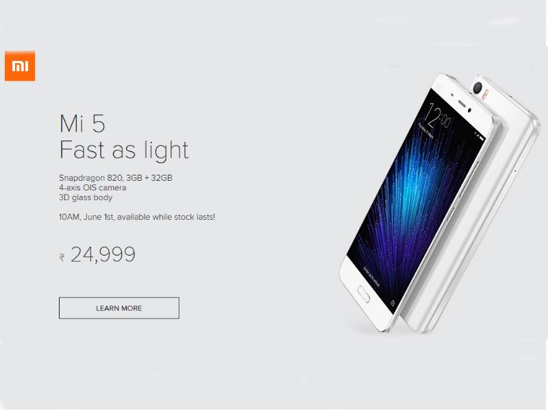 Xiaomi Mi 5, Redmi Note 3 to Go on Open Sale From Wednesday