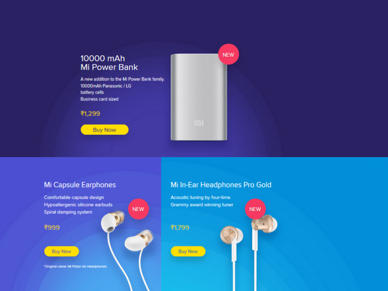Xiaomi India Launches 10000mAh Mi Power Bank, Mi Capsule Earphones, Mi In-Ear Headphones Pro (Gold)