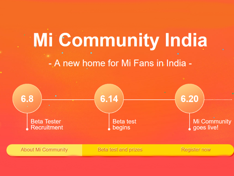 Xiaomi Mi Community for India to Launch on June 20