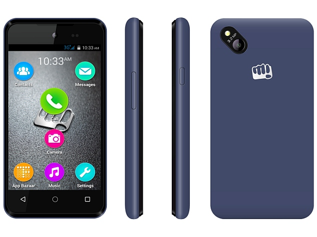 Maco Möbel micromax bolt d303 with 3g support launched at rs 3 499