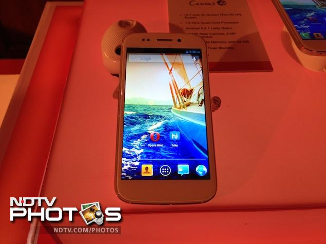 Micromax Canvas 4 launched in India at a price of Rs. 17,999