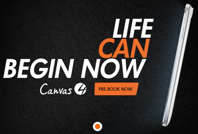 Canvas 4 pre-bookings begin, Micromax to reveal price and specs on July 8