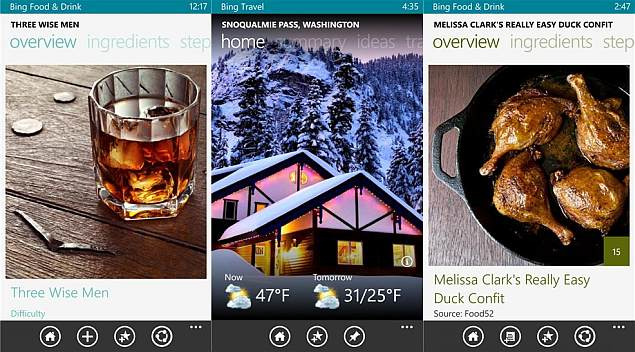 microsoft updates and adds new bing apps brings synchronisation