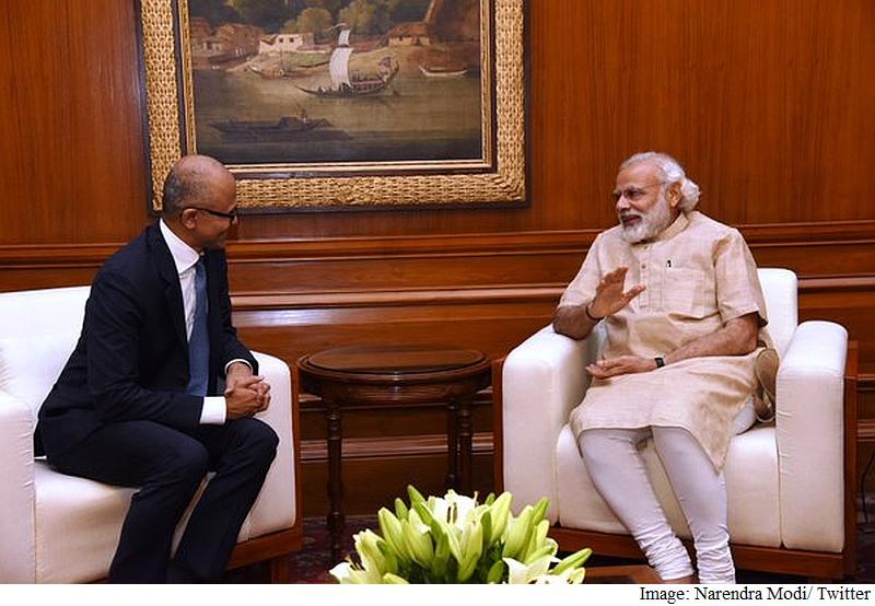 Microsoft CEO Satya Nadella Meets Prime Minister Narendra Modi