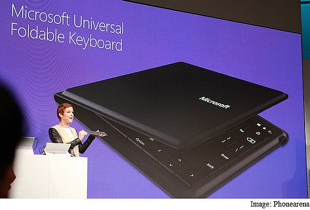 Microsoft Unveils Foldable Keyboard at MWC; Details Windows 10 Rollout Plans