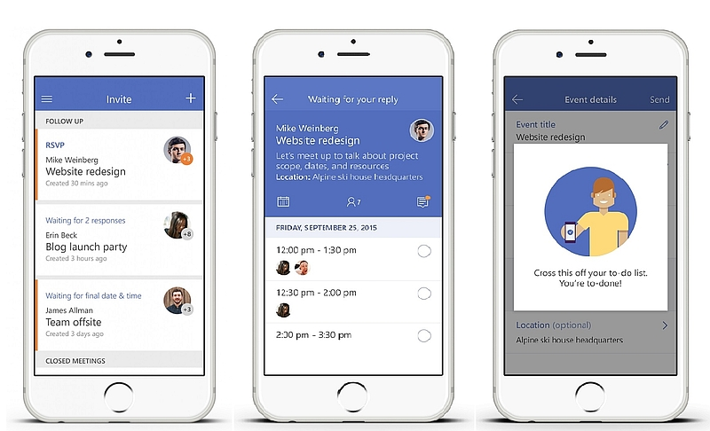 Microsoft Launches Invite App to Help Organise Meetings